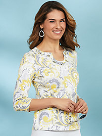 Sunny Side Up Paisley Print Top by Hearts of Palm