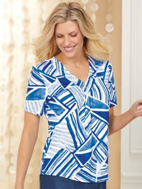 Alfred Dunner® Classic Patchwork Tee