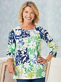Alfred Dunner® Cote D'Azur Patchwork Floral Top