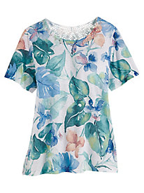Alfred Dunner® Monterey Tropical Print Top