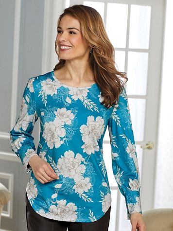 Floral Knit Blouse - Image 1 of 4