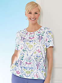 Alfred Dunner® The Summer Wind Medallion Print Top