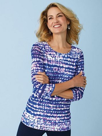 Alfred Dunner® Classic Print Tunics - Image 0 of 4