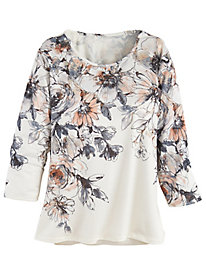Alfred Dunner® Boardroom Floral Yoke Top