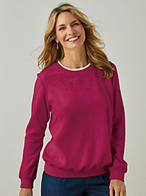 Alfred Dunner® Classic Floral Fleece Top