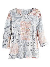 Alfred Dunner® All About Ease Patchwork Top