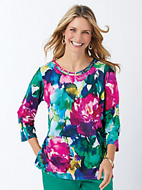 Alfred Dunner® Bright Idea Watercolor Floral Top