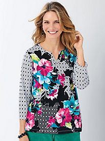 Alfred Dunner® Bright Idea Floral Geometric Top