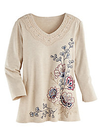 Alfred Dunner® Autumn Harvest Floral Top