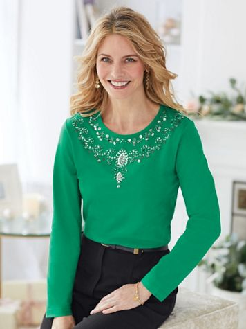 Ornate Beaded Top - Image 0 of 3