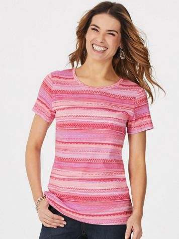 Margaret Stripe Knit Tee by Gloria Vanderbilt®