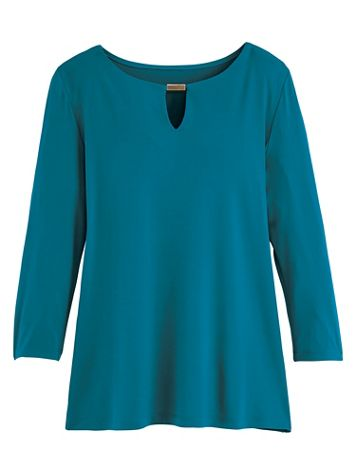 Koret® Travel Knit Top with Detail - Image 0 of 2