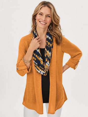 Knit Duet Top with FREE Scarf