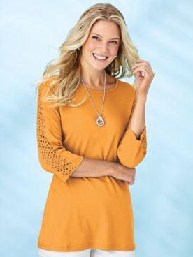 Cutout-Sleeve Knit Tunic
