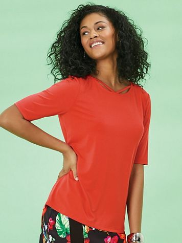 Koret® Cutout Detail Knit Top