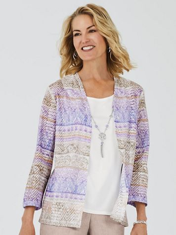 Alfred Dunner® Nantucket Biadere 2-in-1 Top