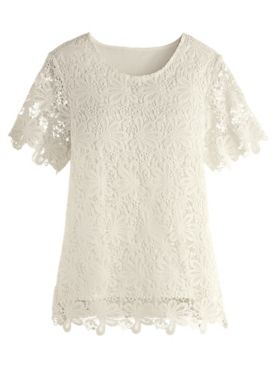 Alfred Dunner® Primrose Garden Solid Lace Knit Top