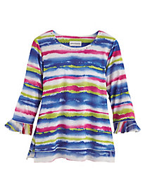 Alfred Dunner® Laguna Beach Watercolor Biadere Top