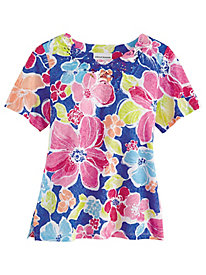 Alfred Dunner® Laguna Beach Bold Flowers Knit Top