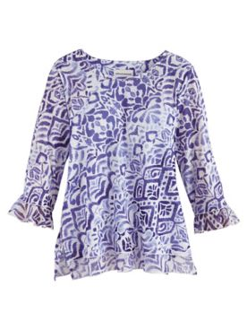 Alfred Dunner® Costa Rica Abstract Knit Top