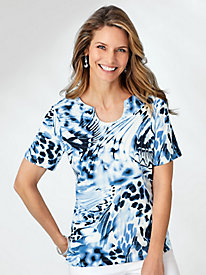 Alfred Dunner® Exploded Butterfly Print Top