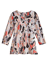 Alfred Dunner® Stained Glass Print Top