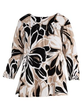 Alfred Dunner® Exploded Floral Print Top