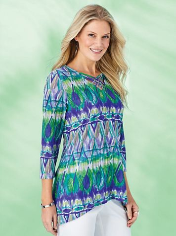 Alfred Dunner® Costa Rica Biadere Knit Top
