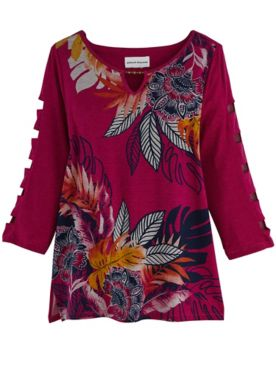 Alfred Dunner® Panama City Tropical Batik Knit Top