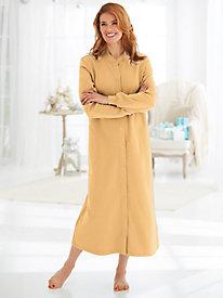 Fleece Snap-Front Robe