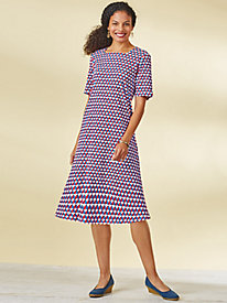 Square-Neckline Knit Dress
