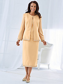 Three-Piece Georgette-Sleeved Suit