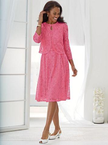 Lace Jacket Dress - Image 0 of 2