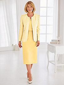 Geometric Printed Skirt Suit