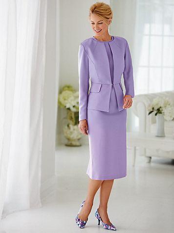 Peplum Jacket Dress - Image 1 of 4