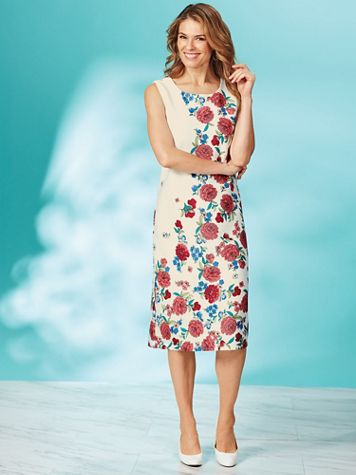 Koret® Print Sheath Dress - Image 2 of 2