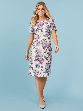 Koret® Crepe Sheath Dress - Image 1 of 12
