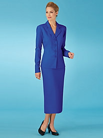 Koret® Ruffle Back Skirt Suit