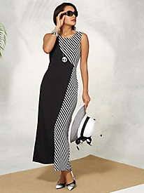 Colorblock Maxi Dress By Regalia®