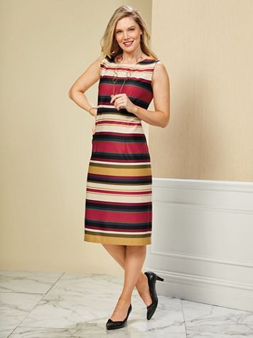Striped Sheath Dress - Image 4 of 4