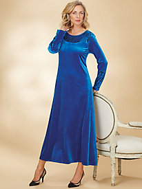Knit Velour Maxi Dress
