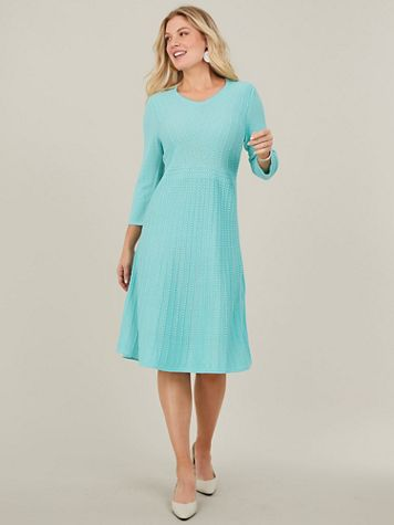 Fit and Flare Sweater Dress By Koret® - Image 1 of 11