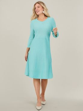 Fit and Flare Sweater Dress By Koret®
