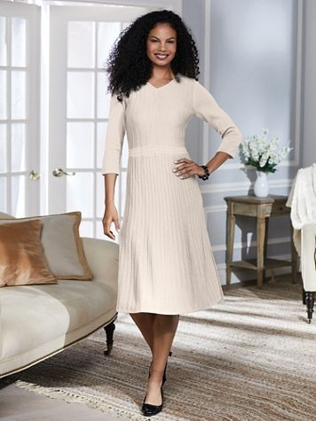 Fit and Flare Sweater Dress By Koret® - Image 6 of 7