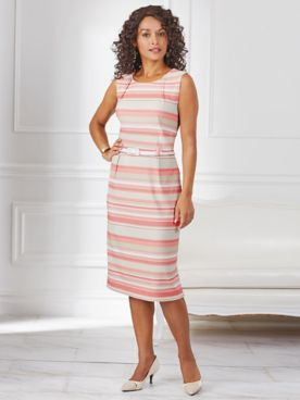 Belted Stripe Dress By Koret®