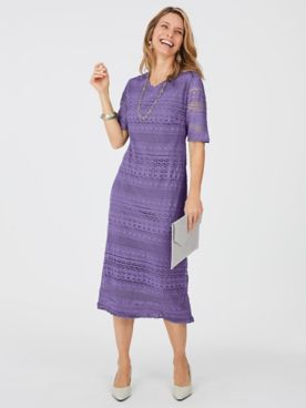 Fringed Crochet Dress By Koret®