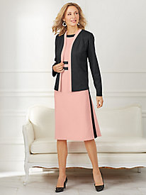 Colorblock Jacket Dress