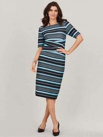 Aztec Stripe Sheath Dress - Image 1 of 3