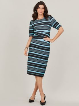 Aztec Stripe Sheath Dress