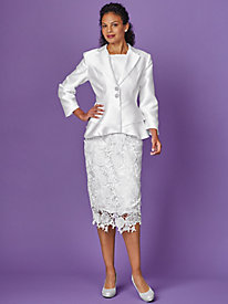 Lace Skirt Suit By Regalia®